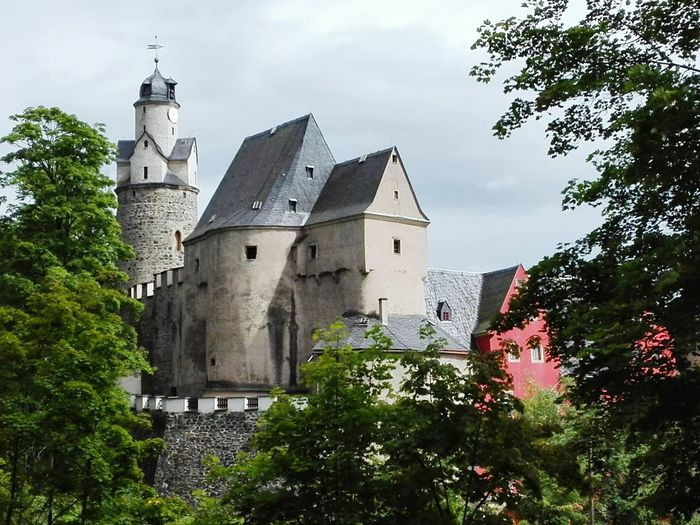 Burg Castle Hartenstein Saxony Germany Burg Castle Historic Hartenstein Saxony Germany Architecture Building Exterior History Tower Tree Built Structure Religion Day No People Outdoors Travel Destinations Place Of Worship Sky Nature