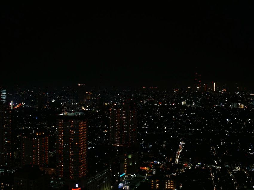 dots Night Illuminated City Building Exterior Architecture Built Structure Cityscape Dark Nightlife Skyscraper Modern Outdoors Glowing City Life Building Sky