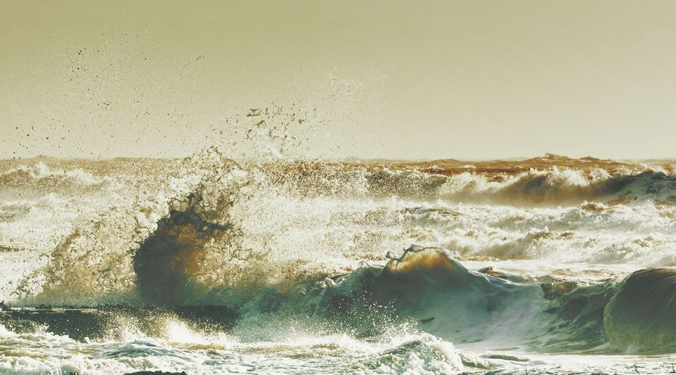 Water Sea Nature Wave Beach Surfing Land Day Aquatic Sport Motion Beauty In Nature Outdoors Sunlight Sand Sky Scenics - Nature Power In Nature