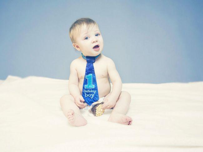Birthday Baby Boy Olympus Epl5 Tie First Birthday Blue Eyes Blue Soft Cute Cupcake Frosting