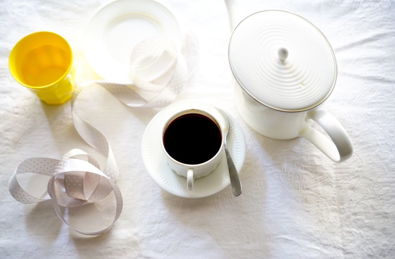 Coffee and plate