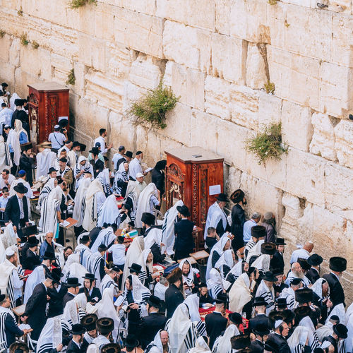 People at wailing wall