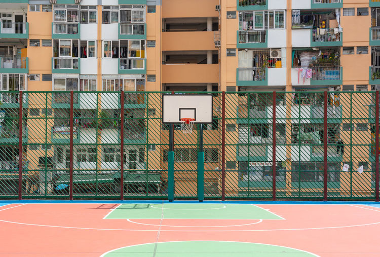 Basketball playground outside, hong kong