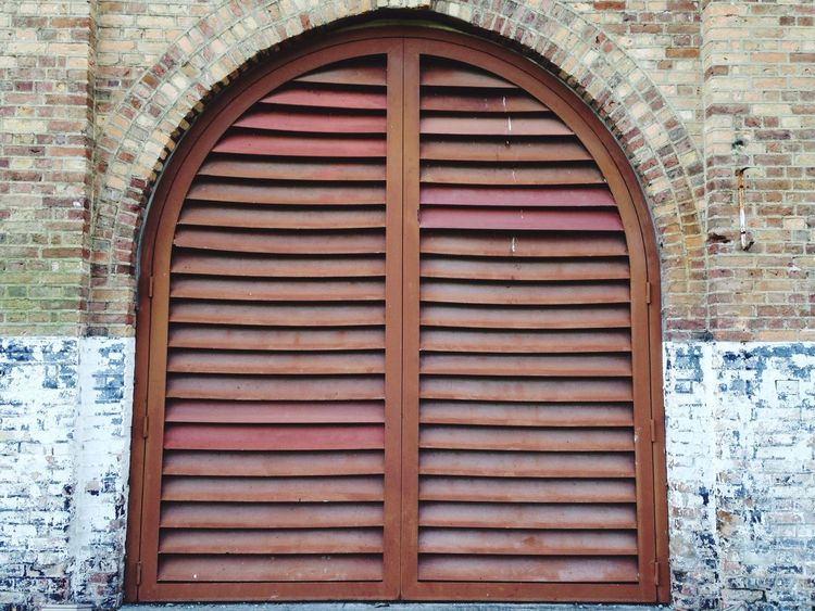 Architecture Built Structure Building Exterior Day Window Barn Door Brick Brick Building Outdoors Corrugated Iron Close-up
