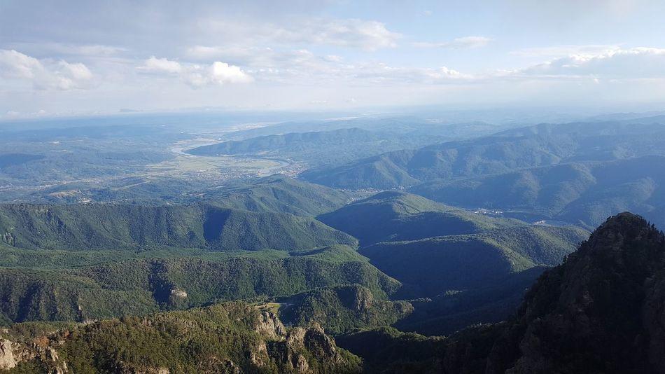 Cozia Peak, Romania - 1700m Tranquil Scene Distant Scenics Romanian Lands Cityscape Mountain Range