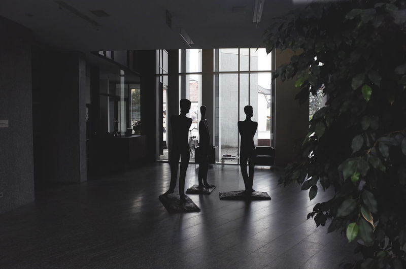 shadow people Architecture Building Figurines  Flooring Human Representation Indoors  Interior Views Light And Shadow Sculptures Silhouette Urban Lifestyle Window