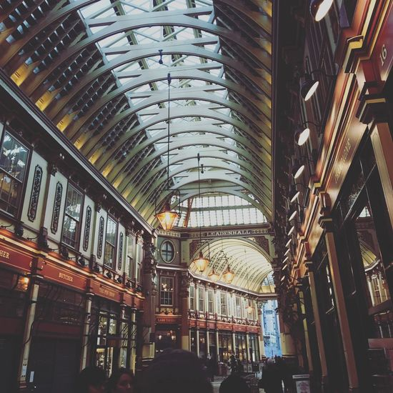 Leadenhall Market Architecture Built Structure City Ceiling Indoors  Modern Library Bookshelf Day People