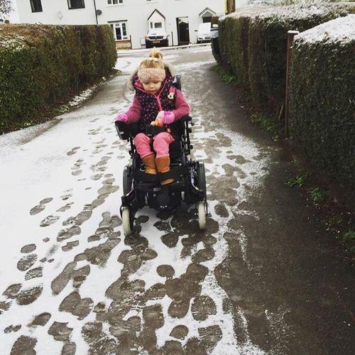 People And Places Snow Day Beautiful Nature Beatiful Girl Goingforadrive Wheelchair Disabled Sma Awareness