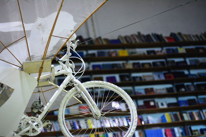 Bookstore Bycicle Flying Bycicle Lisboa Portugal Lisbon Lx Factory Wite