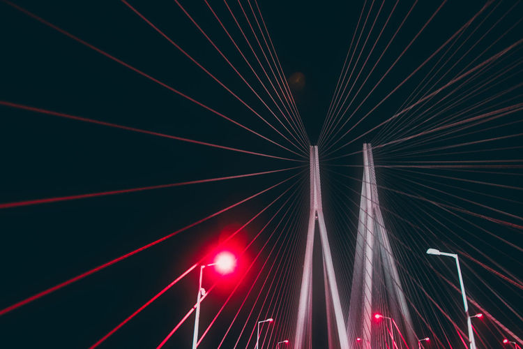 Architecture Arts Culture And Entertainment Connection Event Glowing Illuminated Laser Light Light - Natural Phenomenon Light Beam Lighting Equipment Long Exposure Low Angle View Motion Night Nightlife No People Performance Popular Music Concert Red Sky HUAWEI Photo Award: After Dark