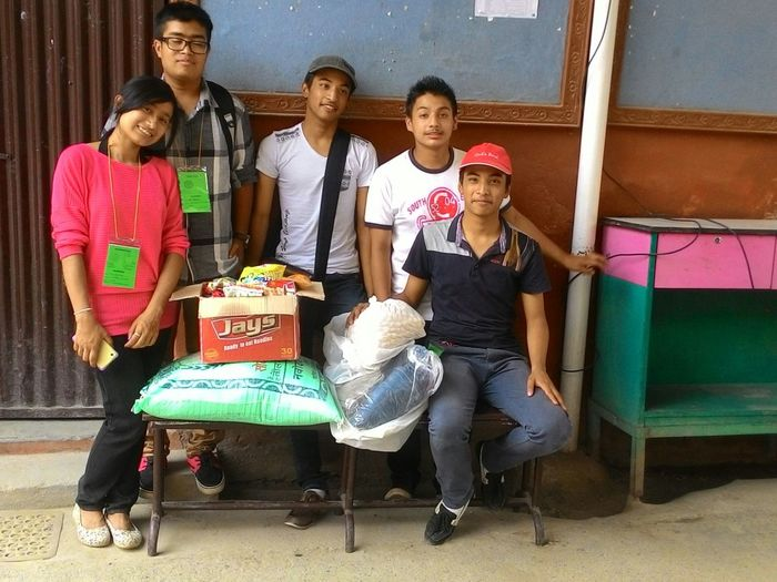 Heading towards the place with donation where student of united school became homeless