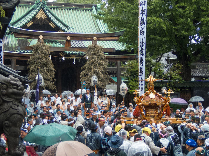 Shinto Shrine Tokyo,Japan Festival People Photography Portable Shrine 御神輿 御神輿(Omikoshi) 牛島神社