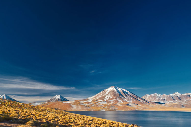 Golden Grass Sky And Clouds Nature Landscape Blue Sky Travel Photography Chile Lake View Lake Snow Mountain Sky Snowcapped Mountain Mountain Range Calm