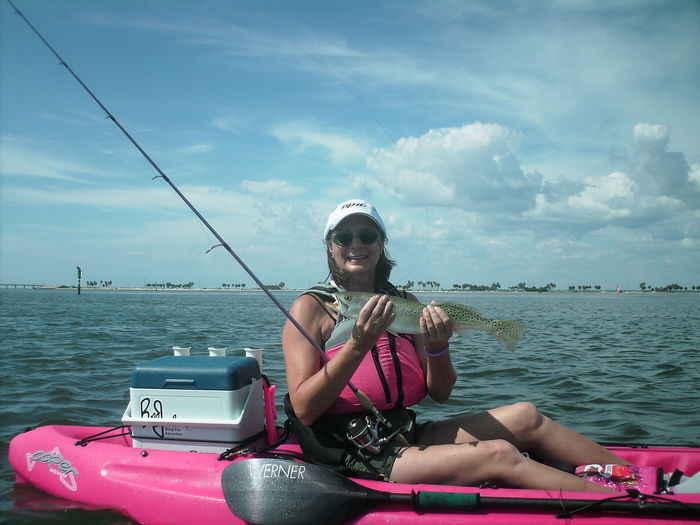 Kayak Fishing Kayaker Fishing Sportswoman Power Of Pink Weekend Activities Female Adult Fish Fisherman Kayak Kayaking Watersports Weekend Warrior Florida Life Female Weekend Warriors Catch Of The Day Florida Fishing People Real People Women Around The World This Is Aging