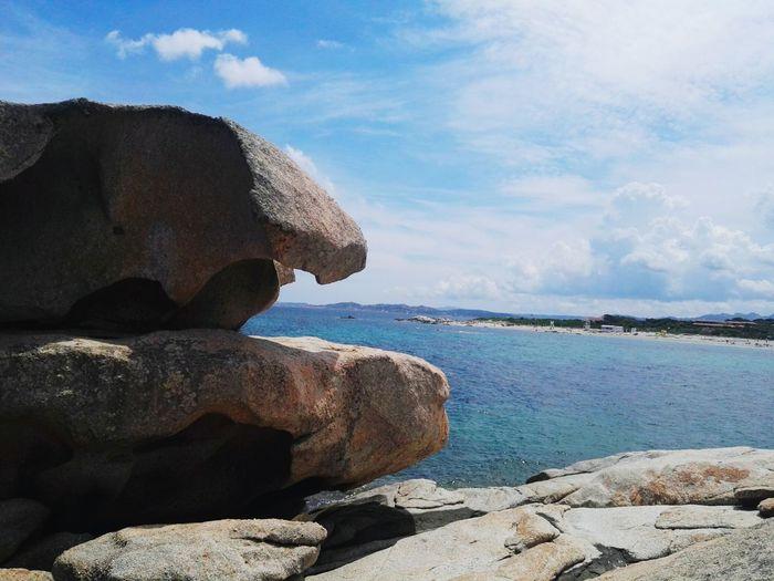 Gallura Sardinia Gallura La Licciola La Maddalena, Sardinia Arcipelagodellamaddalena Bonifacio Water Sea Beach Sand Rock - Object Statue Sky Cloud - Sky Horizon Over Water Cliff Stack Rock Rock Formation Coastline Natural Arch