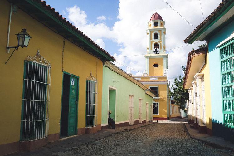 Coulourful Cuba Holiday Road Sky Street Sun Sunny Trinidad Trinidad, Cuba Walls