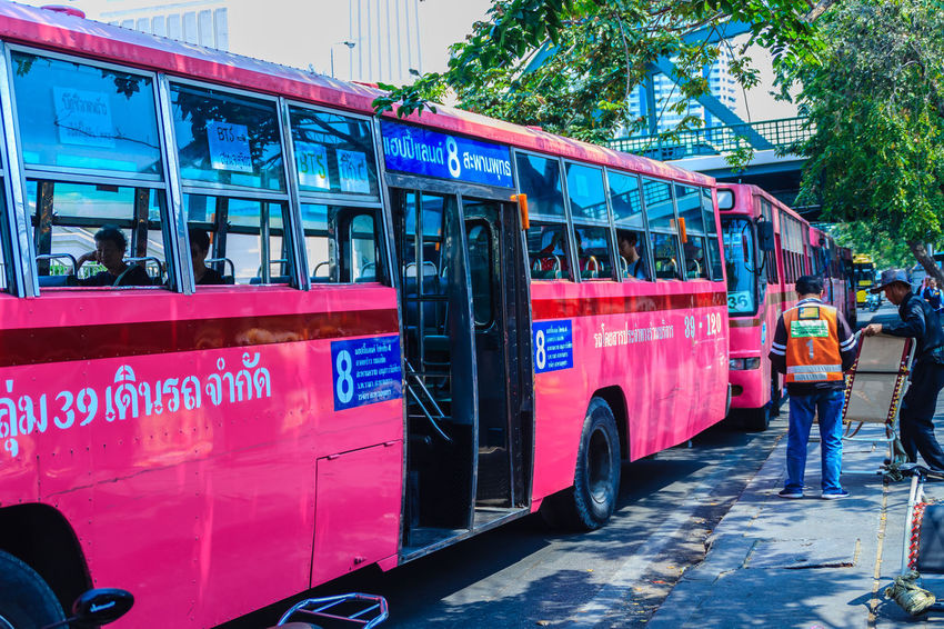 Bangkok, Thailand - March 2, 2017: Pink bus line number 8, starting point from the memorial bridge (Saphan Phut) to Happy Land, Minburi. Bus nummber 8 line is famous of fast and swiftly in Bangkok. Bus Trip Bus Terminal Station - Entrance Number 8 Pink Pink Bus Saphan Phut Architecture Bus Bus Line Bus Terminal Bus Travel City Communication Day Fast And Furious Fast And Furious 8 Fast And Swiftly Group Of People Happy Land Incidental People Land Vehicle Memorial Bridge Men Minburi Mode Of Transportation Motor Vehicle Outdoors People Public Transportation Rain Real People Red Road Street Swiftly Text Transportation