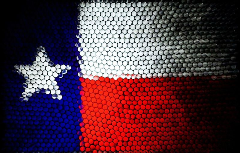 Texas Illuminated Straw Abstract Abstractart Strawcamera Strawphotography Art Patriotism Close-up Sport Indoors  Day Pixelated EyeEm Ready