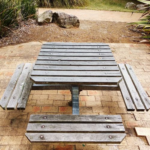 Rable And Benches Park Table Table And Bench Sunlight High Angle View Shadow