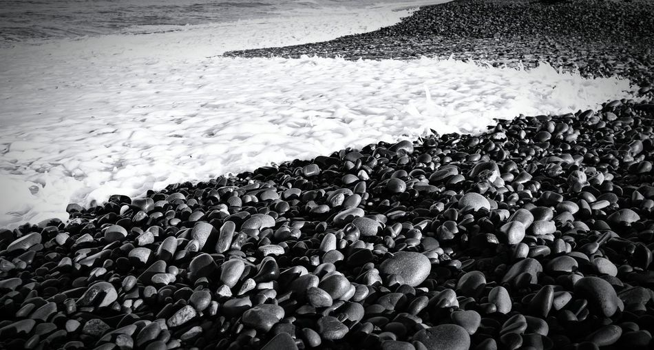 Pebbles Onthebeach Shore Seashore Pebbles And Stones Pebble Beach Beach Beachphotography Ocean Blackandwhite Black And White Collection  From My Point Of View Black & White Blackandwhitephoto California Photography Contrast Ventura State Beach