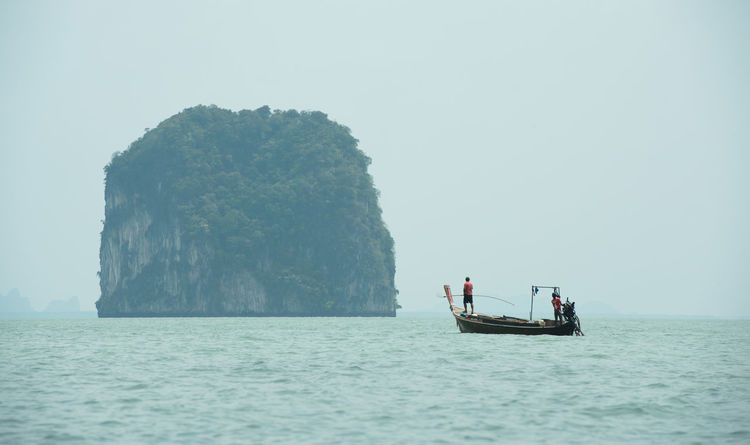 Fisherman, Phang-Nga, Thailand Astrology Sign Business Finance And Industry Clear Sky Day Nature Nautical Vessel Outdoors People Sailing Sea Sky Tranquility Transportation Water Waterfront