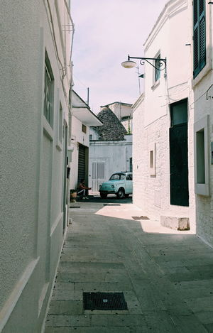 Dreams can become reality VSCO Pixel2 Traveling Travel Destinations Puglia Alberobello Tourist Attraction  Architecture Building Exterior Sky Vehicle Parking Car Vintage Car Collector's Car Residential Structure