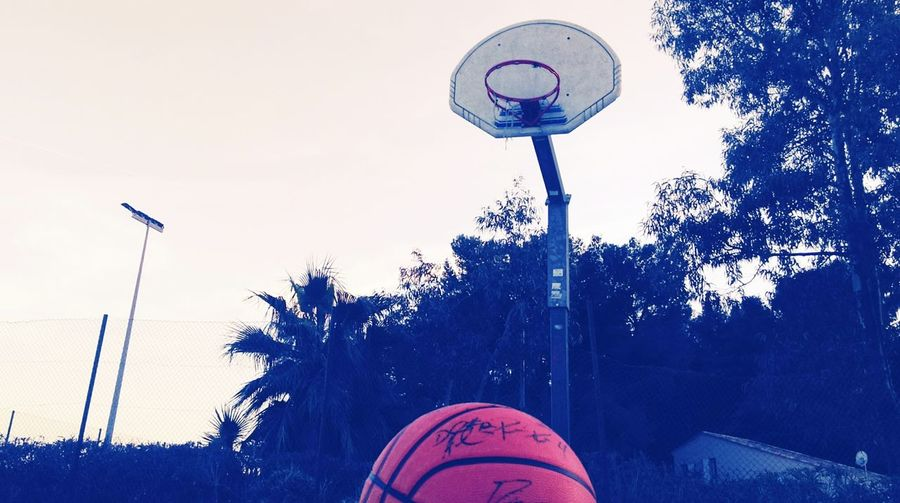 Aftrnoon Evening Summer Friends Streetbasketball Sky Basketball - Sport First Eyeem Photo