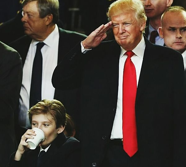 Barron Trump Donald Tump USA Barron Senior Adult Businessman Business Finance And Industry Colleague Politics And Government Business Lifestyles Men Senior Men Archival People Adults Only Event Adult Smiling Politics Corporate Business Suit Young Adult Occupation