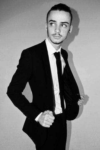 Male Malefashion Fashion Model Shoot Studio Magazine Cover Lighting Beard Firstyear Student Smart Pose Photography Central Smirk Suitup Suit Tie Manbun Suitedup Blackabdwhite Pleasefollow