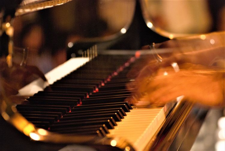 On Stage Analogue Sound Music Piano Hand One Person Keyboard Instrument Keyboard Playing Human Hand