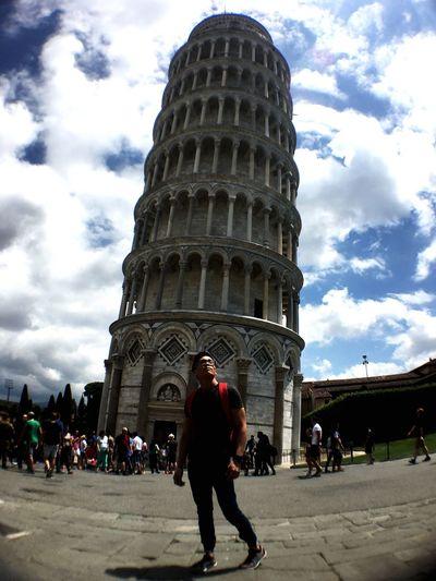 Tower Of Pisa Pisa Florence Italy ThatsMe Travel Destinations Built Structure Tourism Cloud - Sky