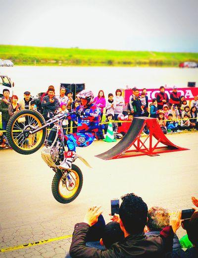 Hello World 佐賀 嘉瀬川河川敷 Balloonfestival2015 Trialbike Honda