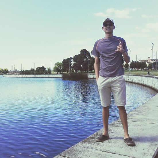 Water Standing Teenager One Person Casual Clothing Full Length Summer