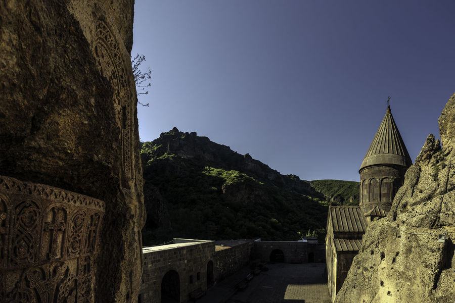 Geghard Monastery Armenia Church Geghard Monastery Monastery Of Stone Architecture Built Structure Clear Sky Day History No People Spirituality Travel Destinations