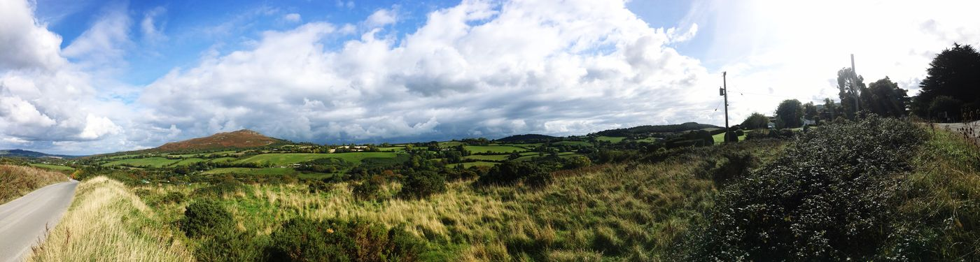 Panoramic Landscape Sky Tranquil Scene Scenics Solitude Tranquility Cloud Non-urban Scene Beauty In Nature Remote Cloud - Sky Countryside Nature Day Outdoors Mountain Cumulus Cloud Distant Green