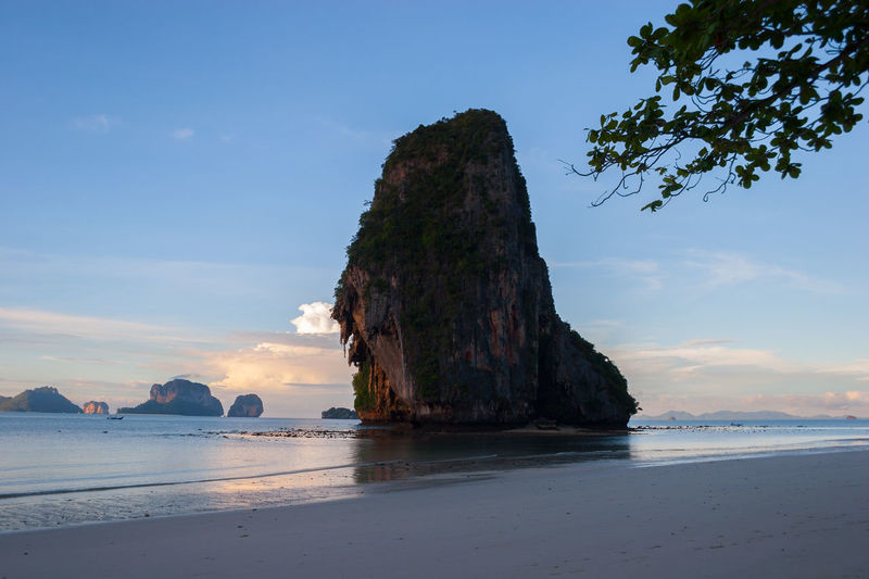 Beach Beauty In Nature Day Horizon Over Water Limestone Nature No People Outdoors Railay Beach Rock - Object Rock Formation Sand Scenics Sea Shore Sky Tranquil Scene Tranquility Water