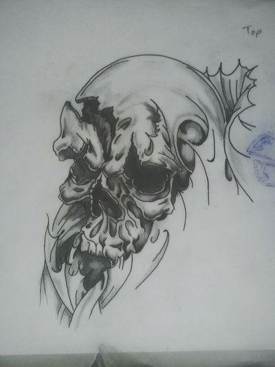 The skull i drew