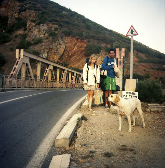 Analogue Photography Corse Holiday Road Traveling Backpack Bridge Casual Clothing Corsica Day Dog Hitchhiking Journey Mountain Nature Outdoors People Pets Road Roadtrip Summer Travel Destinations Voyage Walking Young Adult Lost In The Landscape EyeEmNewHere Done That. Connected By Travel An Eye For Travel The Portraitist - 2018 EyeEm Awards