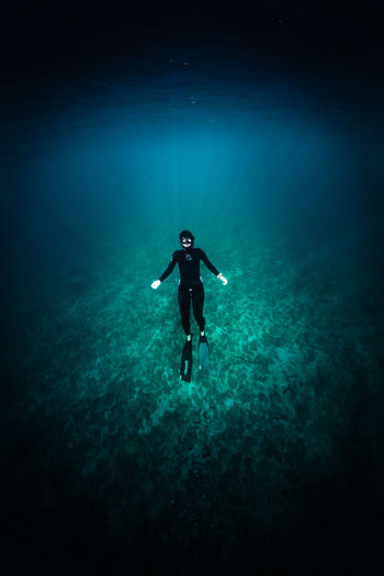 japan Sea Underwater UnderSea Aquatic Sport Water One Person Swimming Exploration Adventure Scuba Diving Sport Nature Full Length Diving Equipment Diving Flipper Blue Sea Life Marine Outdoors Underwater Diving