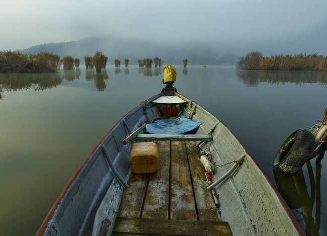 Fishing Boats Lake Pamvotis Ioannina Sunrise Mist OpenEdit Landscape_photography Bestoftheday