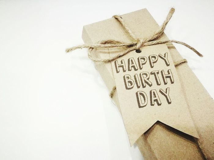 Happy birthday gift box Gift Christmas Present Christmas Ribbon - Sewing Item Wrapped Celebration Message White Background Text Christmas Decoration Birthday Present Mother's Day Valentine Card Anniversary Envelope Birthday Handwriting  Gift Box Wrapping Paper Birthday Cake