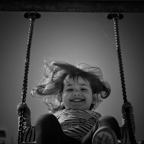 Portrait of smiling girl at playground