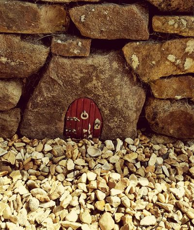 Little Door  Dry Stone Wall Outdoors Pebble Fairy Door