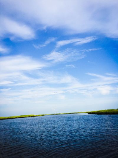 River Tuckahoe River Summer Water Boat Ride Boatview Marsh Nature