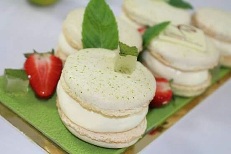 Macarons MOJITO Mojito Troyes Macarons Menthe Citron Lemon Strawberry Pastry Cooking Work