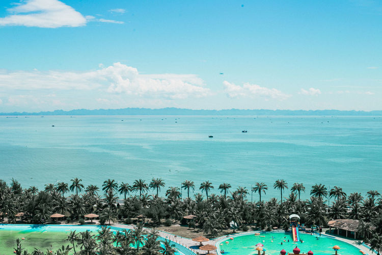 Vietnam Beach Beauty In Nature Blue Cloud - Sky Day Horizon Over Water Hải Phòng Leisure Activity Nature Outdoors Scenics Sea Sky Swimming Swimming Pool Tranquility Vacations Water Đồ Sơn Beach