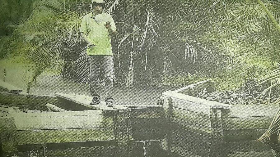 Capturing original picture (Kompas/Laraswati Ariadne Anwar) on page 21st of Kompas Daily Newspaper (10/29/15). Petani Sagu Sekat Kanal Rawa Gambut