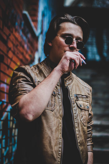 Beautiful City Cool Fashion Fine Art Photography Getty Images Premium Collection Goggles Modern Smoke Black And White Cigar Fine Art Lifestyles Model One Person Portrait Portraiture Posing Real People Sunglasses Urban Week On Eyeem Young Adult