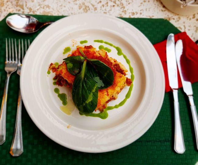 Lazagna Plate Ready-to-eat Food Italian Food Foodporn