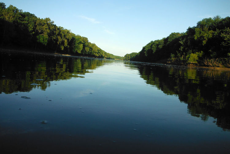 A view of the Wabash River near Covington, Indiana Reflection Water Tranquility Sky Tree Tranquil Scene Beauty In Nature Plant Scenics - Nature No People Waterfront Nature Outdoors Non-urban Scene Clear Sky Idyllic River Wabash River Indiana